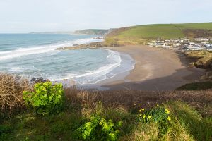 Challaborough coast South Devon England uk near Bigbury